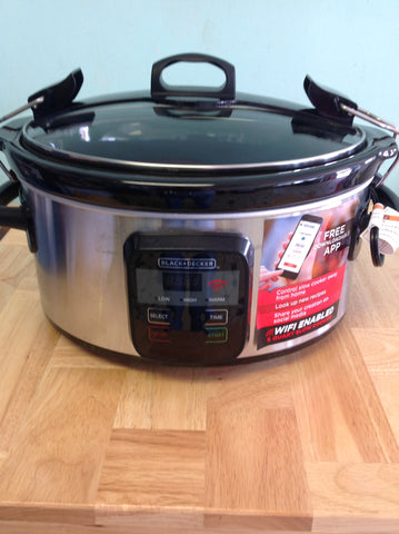 NH BLACK+DECKER WiFi-Enabled 6-Quart Slow Cooker SCW3000S B