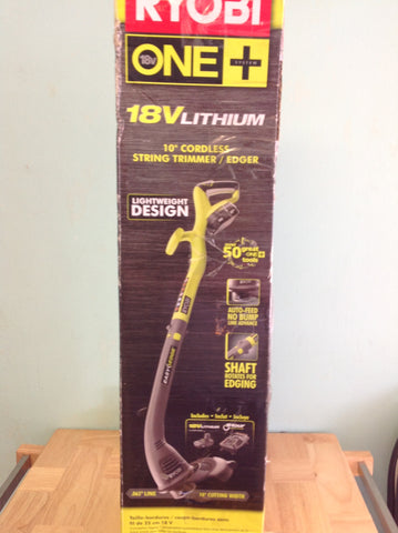 NH Ryobi ONE+ 18-Volt Lithium-Ion Electric Cordless String Trimmer and Edger 732355 A