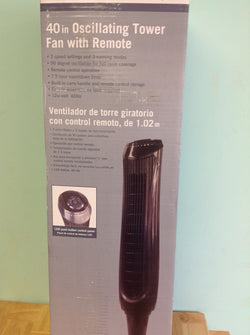 NH 40 in. Oscillating Tower Fan with Remote Control 1000026993 A