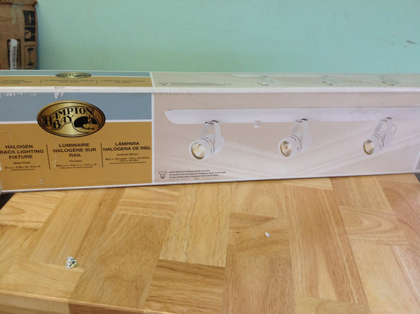 Hampton Bay 3-Light White Plug-in Track Lighting Fixture