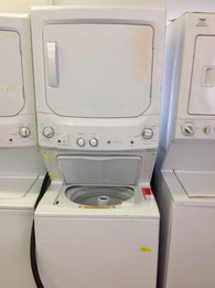 GE Spacemaker Washer and Electric Dryer in White GUD27ESSJWW - Scratch and Dent