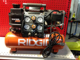 NH RIDGID Tri-Stack 5 Gal. Portable Electric Steel Orange Air Compressor 441037 B