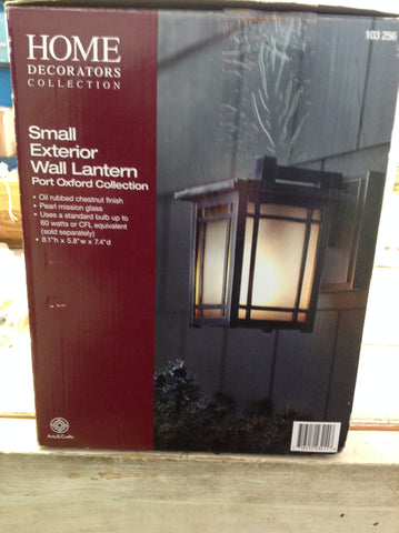 NH Home Decorators Collection Port Oxford 1-Light Oil-Rubbed Chestnut Outdoor Wall Lantern 103256 A