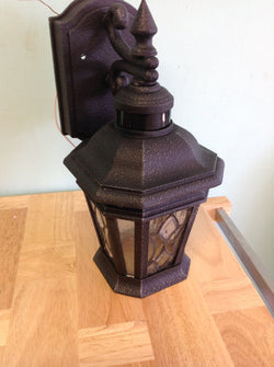 NH Cranbrook Collection 1-Light Outdoor Gilded Iron Motion Sensor Wall Lantern P5661-71 A NO HARDWARE