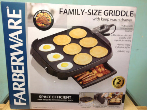 "NH Faberware Family-Size 14"" x 14"" Griddle, Black G767 B"