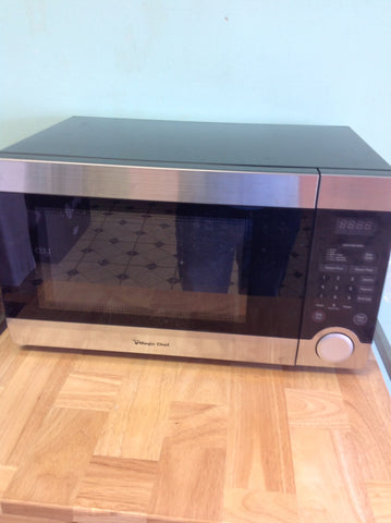 NH Magic Chef 1.1 cu. ft. Countertop Microwave in Stainless Steel MCD1110ST1 A