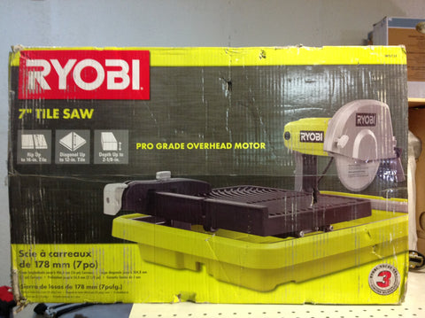 NH Ryobi 7 in. Overhead Wet Tile Saw WS731 B