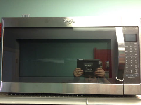 NH Whirlpool 2.0 cu. ft. Over the Range Microwave in Stainless Steel with Sensor Cooking WMH53520CS A