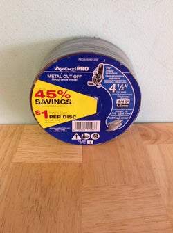 NH Avanti Metal Cut Off Wheels (pack of 25 discs) PBD045063125F A