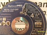 KZ Avanti Pro 4-1/2 in. x 1/16 in. x 7/8 in. Thin Kerf Metal Cut-Off Disc (5 Pack)