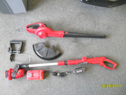 "KZ Craftsman 74985 24v Max Li-ion Cordless 10"" Line Trimmer & Blower Kit"