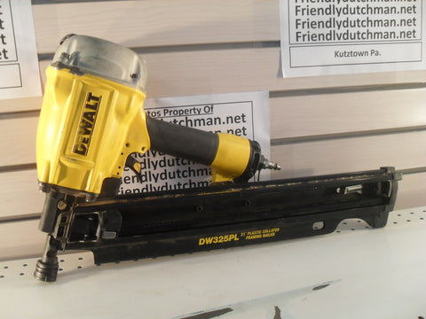 *KZ DEWALT DW325PL Pneumatic 21 Degree Framing Nailer - LIGHTLY USED