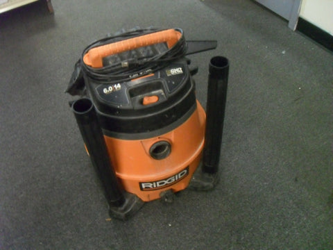 KZ RIDGID WD4500 14 gal. 6.0-Peak HP Wet Dry Vac - USED