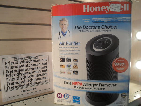 KZ Honeywell Black True HEPA Compact Tower Allergen Remover, HPA-050