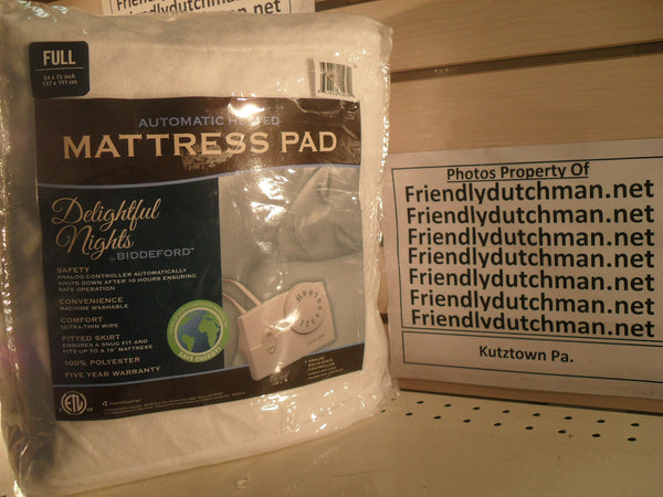 "KZ Biddeford Blankets Heated Mattress Pad 54"" x 75"" FULL Size - NEW"