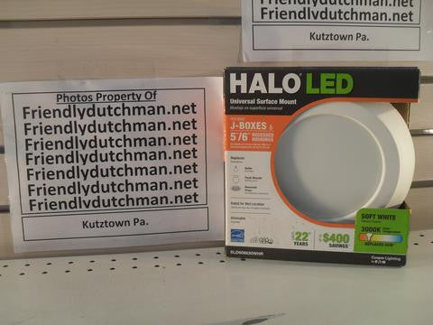 KZ Halo SLD606830WHR 5 in. and 6 in. Matte White Recessed LED Surface Disk Light with 80 CRI, 3000K