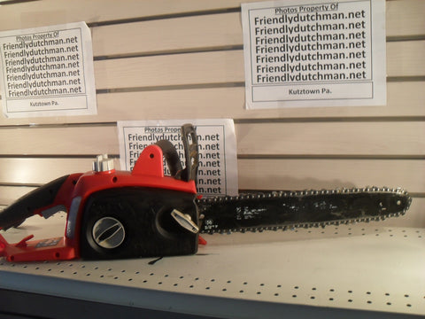 "KZ Homelite UT43122B 16"" 12 Amp Electric Chainsaw SLIGHTLY USED"