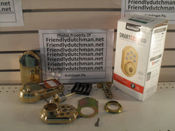 KZ SmartCode 909 Single Cylinder Polished Brass Electronic Deadbolt **INCOMPLETE**