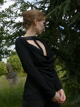 """Tall in Black"" tall top for tall women. Clothing for tall women with extra long sleeves Air Maiden"