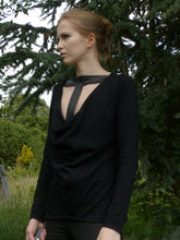Tall in Black tall top. Tall clothing with extra long sleeves Air Maiden