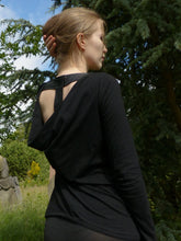 """Tall in Black"" tall top with extra long sleeves Air Maiden"