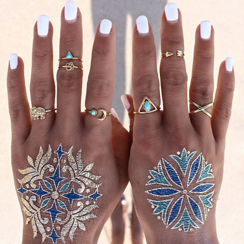 Bohemian 7pcs/Pack Vintage Ring Set
