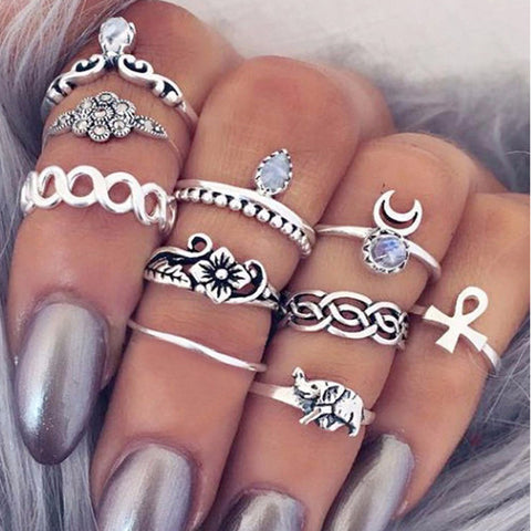 10/PC Bohemia Mid Ring Set