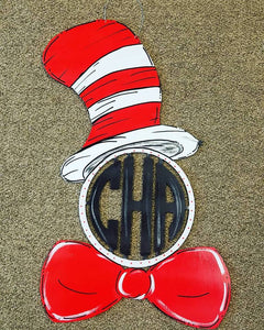 Cat in the Hat Monogram