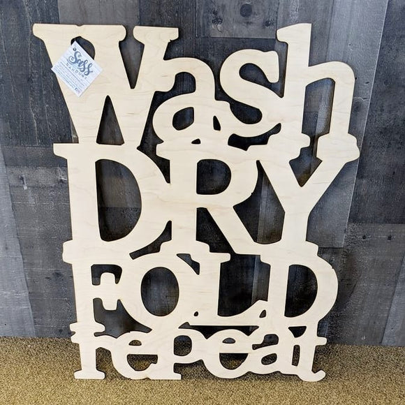Wash Dry Fold Repeat Laundry