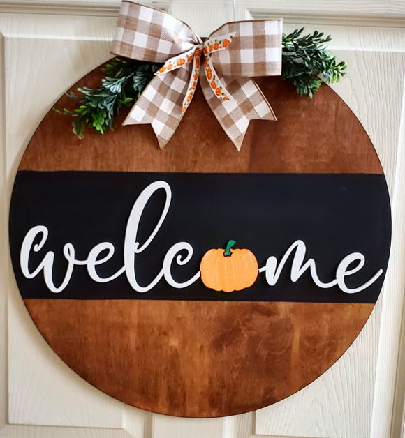 Split Stain Fall Welcome