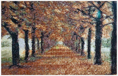 Embroidered Art - Autumn Trail - STDAVIDS.WALES