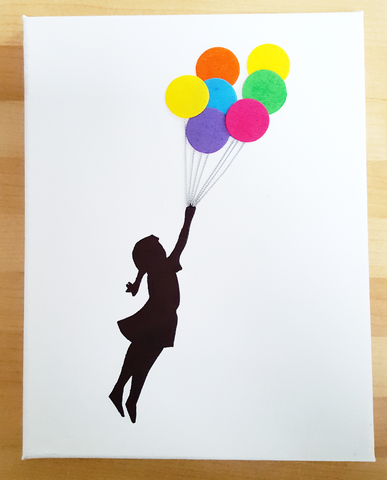 Banksy Inspired - Girl with Balloons - Various sizes on Canvas