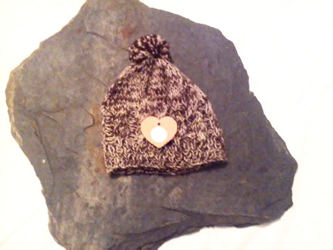 Welsh Alpaca Beanie with Pom
