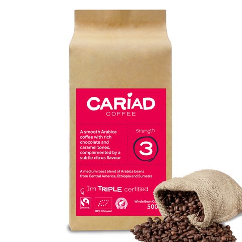 Cariad Coffee 500g - Whole Bean