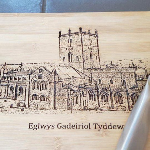 STDAVIDS.WALES:St Davids Cathedral Chopping Board:Little Wooden Workshop:Chopping Board