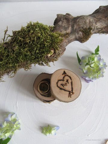 Rustic Ring Box for Weddings & Engagement- Handmade in Wales - STDAVIDS.WALES