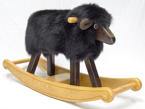Handmade Black Rocking Lamb