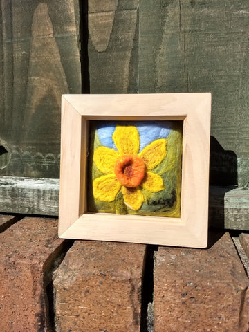 STDAVIDS.WALES:Needle Felted Daffodil Picture:Lynney Lainey Loo:Art