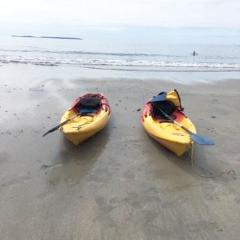 KAYAKING at Aberieddy Beach