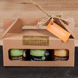 'Breakfast at Tiffany's' - 3 Jar Gift Set of Jam, Marmalade and Preserve - STDAVIDS.WALES