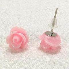 STDAVIDS.WALES:Pink Rose Earrings:Ffigys Designs:Earrings