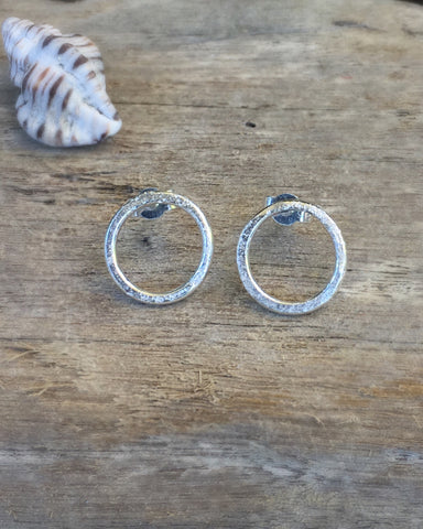 STDAVIDS.WALES:SAND RINGS EARRINGS:Beachcomber Jewellery:Earrings