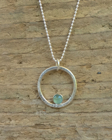 STDAVIDS.WALES:SEA AND SAND CIRCLE PENDANT:Beachcomber Jewellery:Earrings