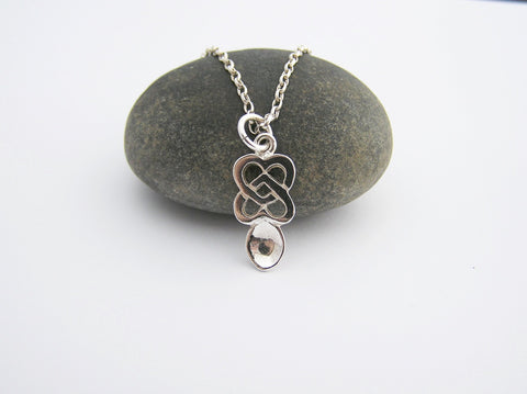 STDAVIDS.WALES:Sterling Silver Love Spoon Pendant and Chain:Celtic Treasure:Necklace