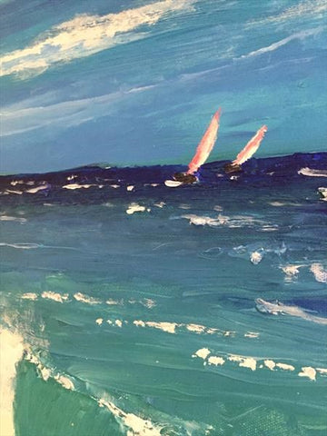 The Wave - Acrylic box Canvas - STDAVIDS.WALES