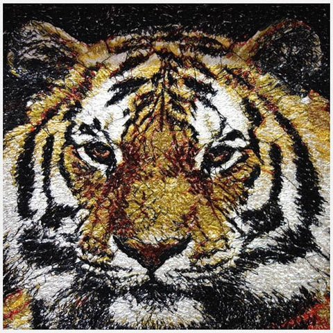 STDAVIDS.WALES:Embroidered Art - Tiger:DK Embroidery Designs:Art