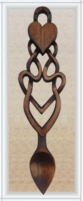 STDAVIDS.WALES:Traditional Celtic Love Spoon:WELSH LOVE SPOONS:LOVE SPOON