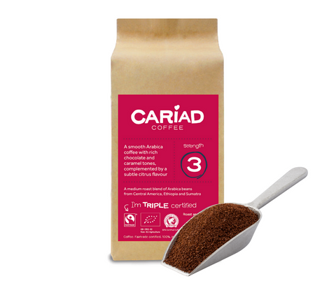 STDAVIDS.WALES:Cariad Coffee 250g - Ground (Fair Trade) 2 packs:Cariad Coffee:Coffee