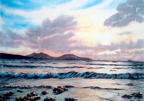 STDAVIDS.WALES:Whitesands, evening light by Andrew Bailey:Andrew Bailey:Paintings