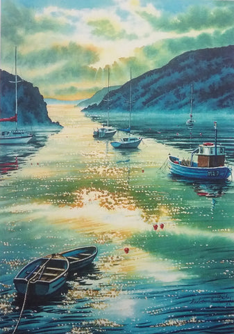 STDAVIDS.WALES:Solva, tranquil harbour by Andrew Bailey:Andrew Bailey:Paintings